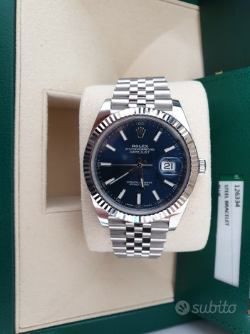 Rolex Datejust 126334 blu jubilee full set 2017