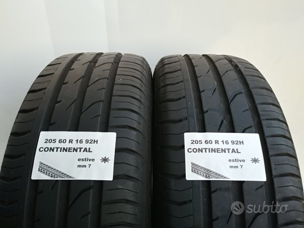 Gomme 205 60 r 16 continental usate