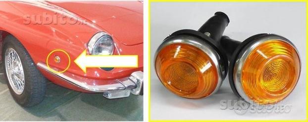 Fiat 850 spyder coppia frecce laterali