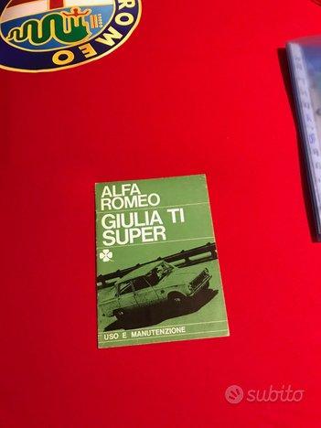 Libretto Uso e Manutenzione Alfa Romeo Giulia