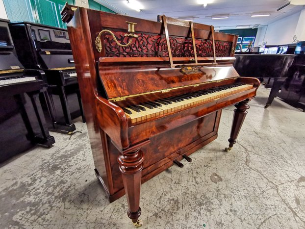 Raro Pianoforte verticale in radica Middleton