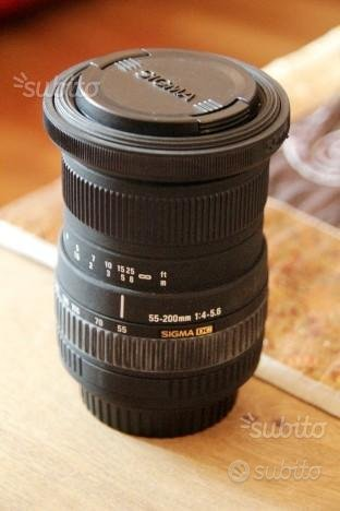 Sigma 50-200 zoom monoghiera reflex digitale