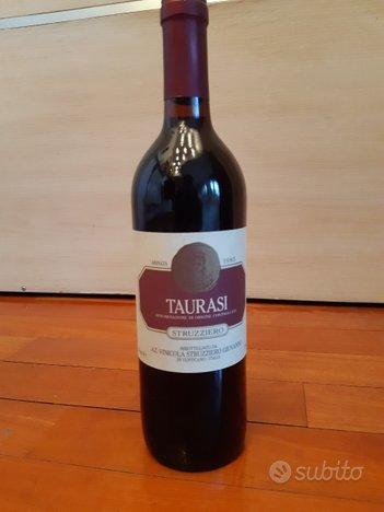 Bottiglia vino Taurasi Struzziero DOC 1985