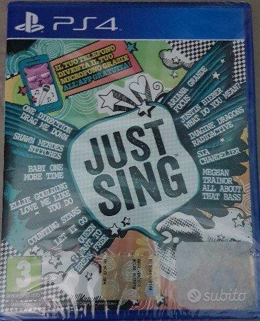 Ps4 Just Sing ancora sigillato