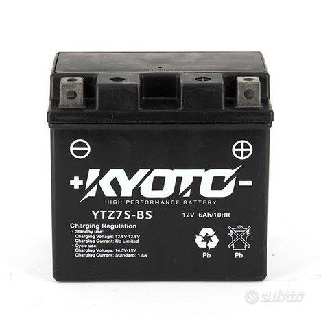 Batteria KYOTO YTZ7S-BS 12v 6AH AGM MOTO YAMAHA