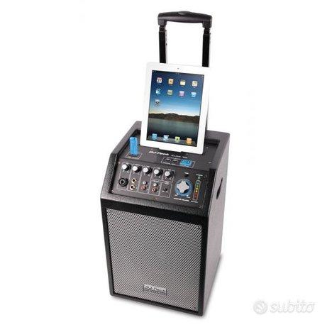 Sistema audio integrato cassa acustica dj tech