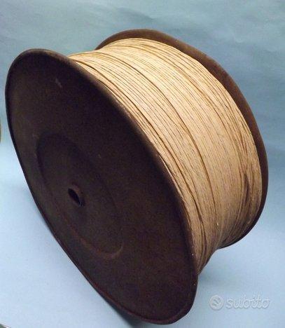 Vecchia bobina cordoncino corda paglia impagliatur