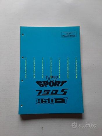 Moto Guzzi V7 Sport-750 S-850 T 1974 man. officina