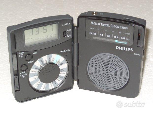 Philips AE4200 Radio sveglia da viaggio vintage
