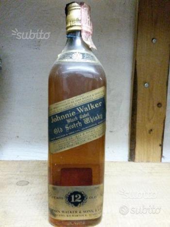 Johnny walker etichetta nera