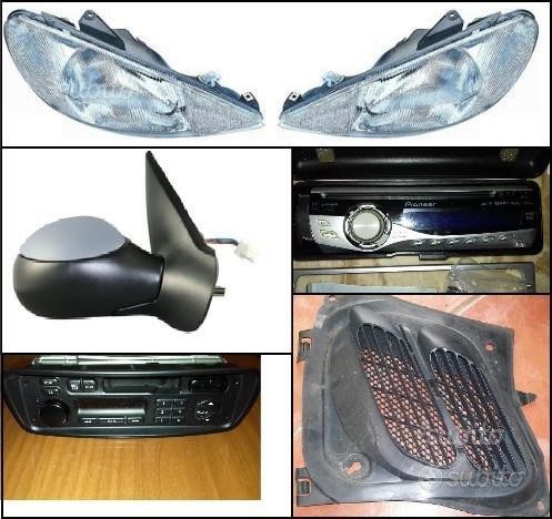 Ricambi Peugeot 206: fari, specchietto, radio, ecc
