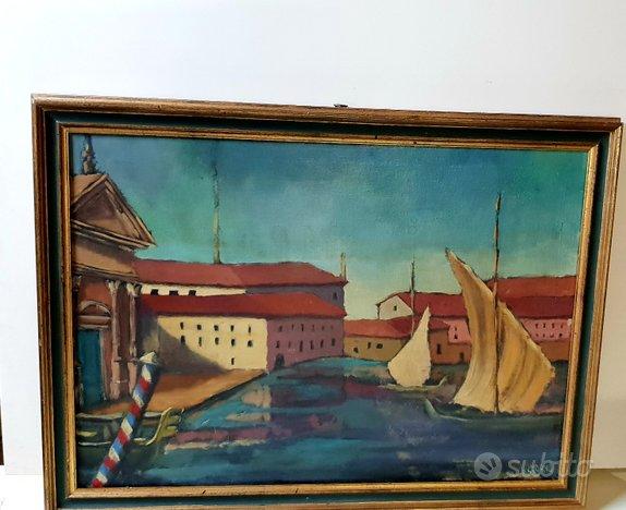 Quadro venezia 1964 olio su tela