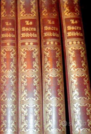 LA SACRA BIBBIA + VANGELI 4 TOMI 34x25cm 1970