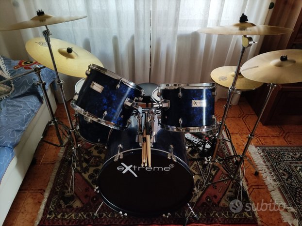 Batteria - drum set con accessori