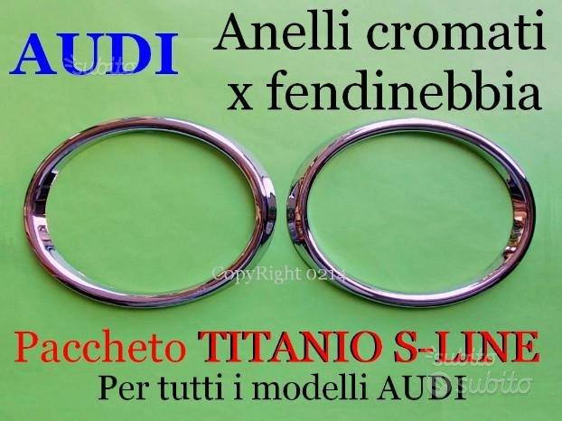 Audi A3 A4 A5 A6 Q3 Q5 anelli cornici fendinebbia