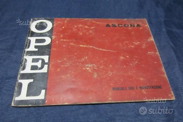 Opel ascona 1972 libretto manutenzione