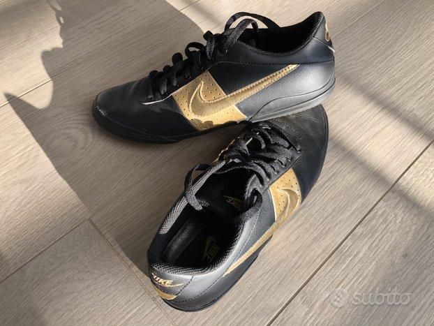 Nike nuove - sneakers di pelle nero e oro