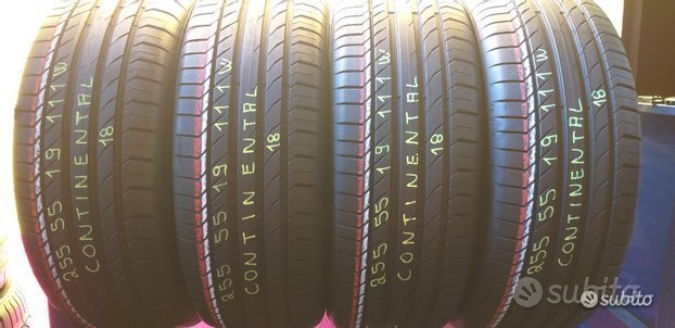 4 gomme 255 55 19 continental al 90%