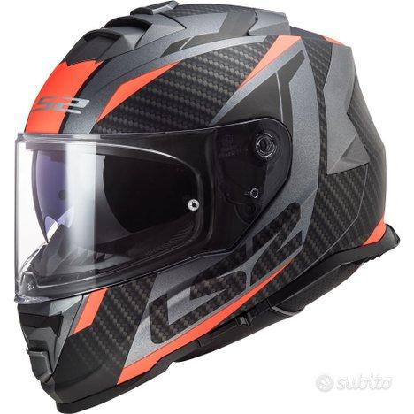 Casco Integrale LS2 STORM RACER Titanio Arancio