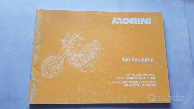 Moto Morini 350 Excalibur 1986 catalogo ricambi