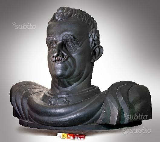 Statua mezzobusto bronzo re Vitt.Emanuele III