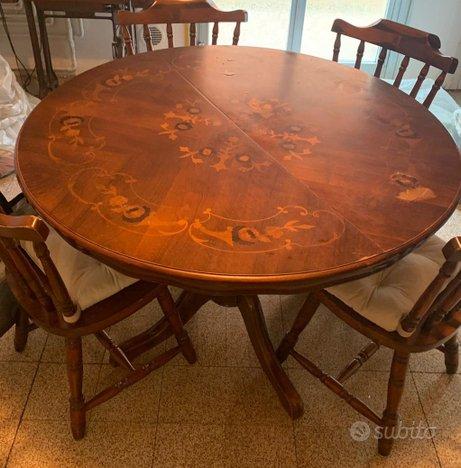 Tavolo rotondo allungabile e sedie abbinate - Arredamento ...