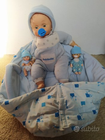 Cicciobello, due baby Cicciobello e fasciatoio