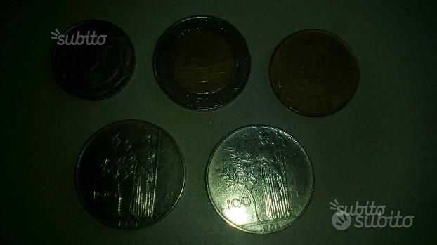 Lotto 5 monete lire italiane