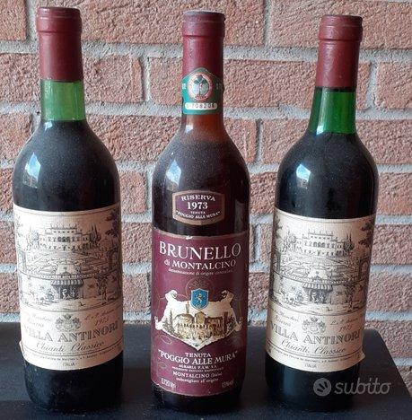Bottiglie di Vino anni 70 Chianti, Barbaresco etc