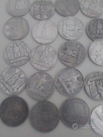 Monete Argento Regno d'Italia Lira 1 e 5 dei tre R