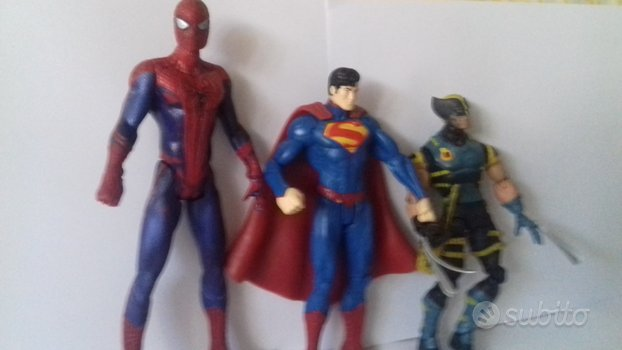 Lotto super spiderman amazzing wolverine superman