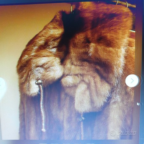 Pelliccia artigianale visone maschio selvaggio tag