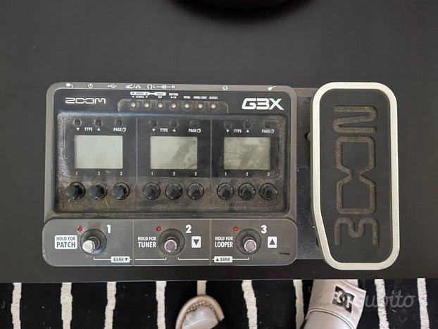 Pedaliera zoom g3x per chitarra