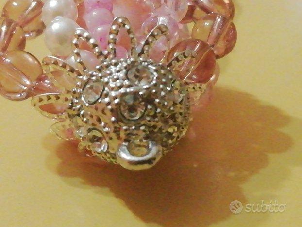 Orecchini rosa con perle