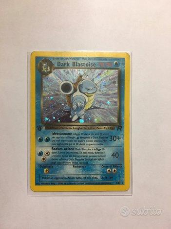 Carta pokemon Dark Blastoise Holo Prima edizione