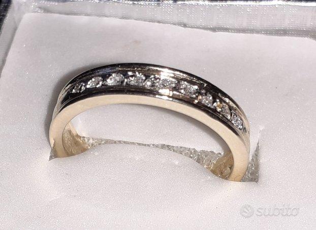 Veretta vera Fede oro diamanti brillanti