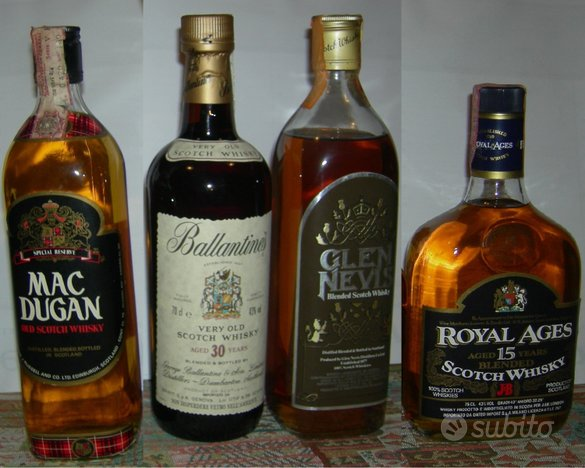 Whisky - Lotto di 4 bottiglie