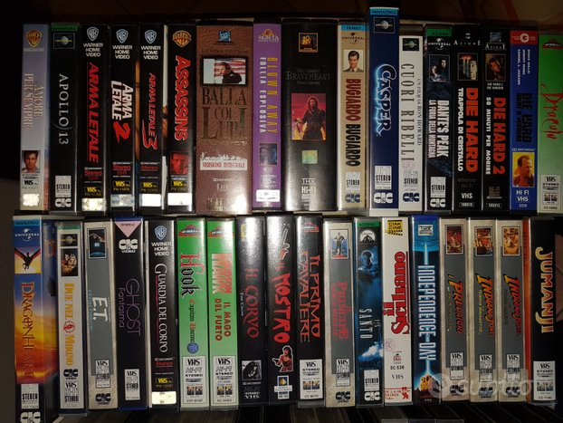 100 Film Videocassette VHS Originali Lotto Rare
