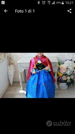 Vestito Anna di Frozen *Nuovo*accessori inclusi