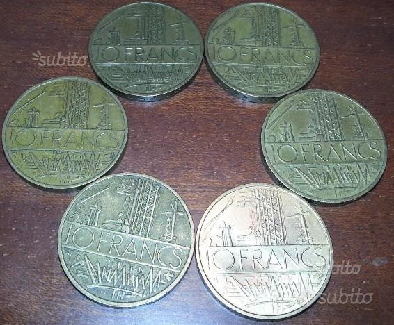10 francs mathiee francia repubblica lotto di 6 mo