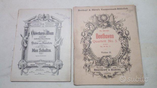 Spartiti musicali dal 1930 al 1960