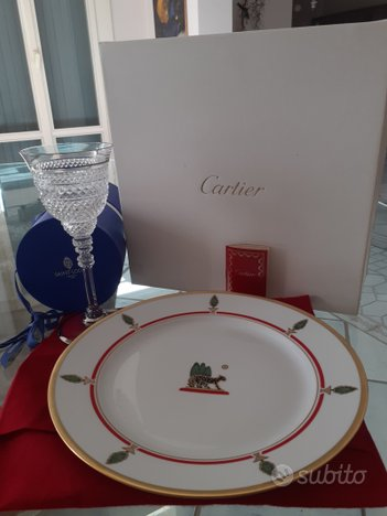 Piatti Cartier e bicchieri Saint Louis originali