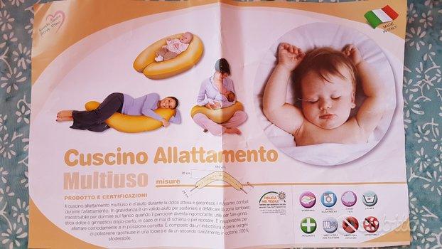 Cuscino gravidanza e allattamento sfoderabile