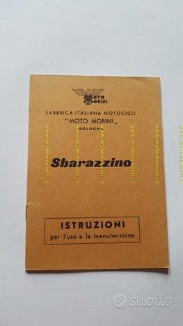 Moto Morini Sbarazzino 1959 manuale uso originale