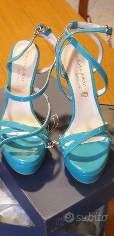 Sandalo Byblos verde Tiffany