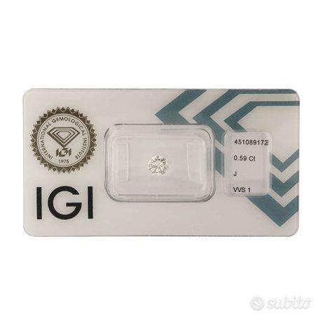 Diamante certificato IGI 0,59 ct