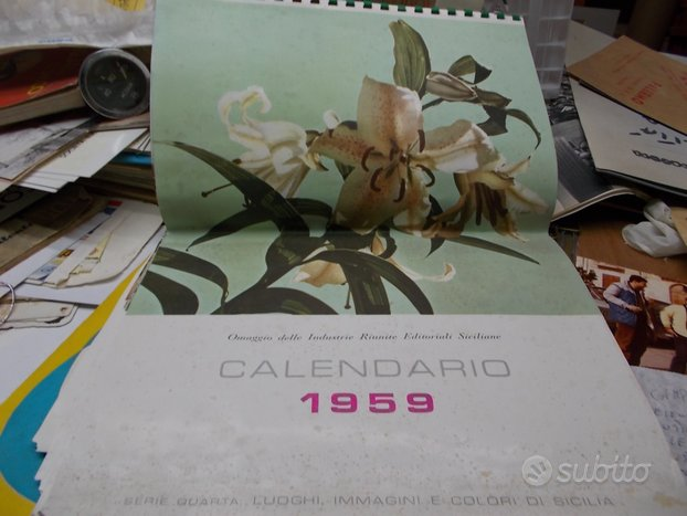 Calendario anno 1959 siciliano