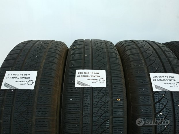 Gomme invernali 215 60 r 16 gt radial usate