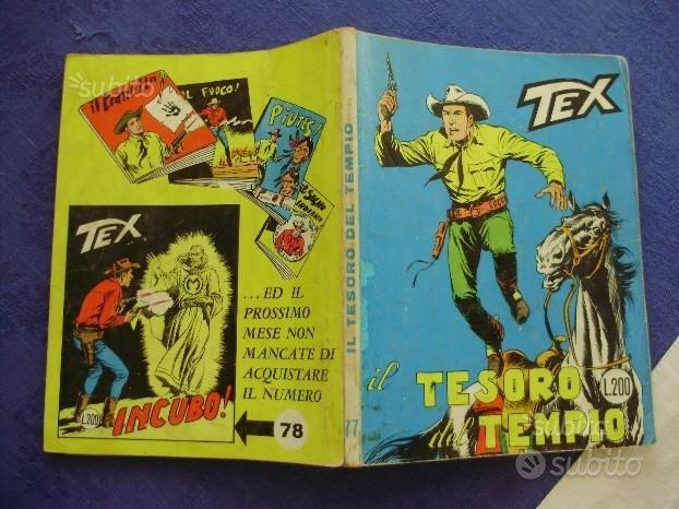 TEX numero 77 PRIMA EDIZIONE 200 lire del 1967