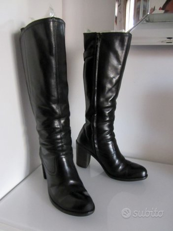 Stivali donna VIC MATIE' in pelle nera - mis.36,5